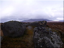 NN4060 : Group of boulders north of Meall Liath na Doire on Rannoch Moor by ian shiell