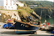 SW9339 : Portloe Slipway 1999 by Roy Hughes