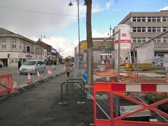 Renewal work on Market Street