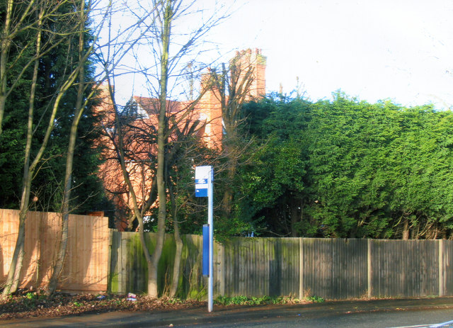 Grove Road Kings Heath from site of entrance to Grove Terrace