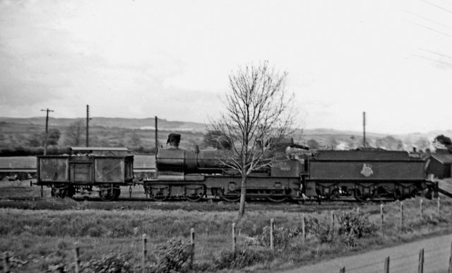 Ex-GWR 'Dukedog' in Store at Moat Lane Junction