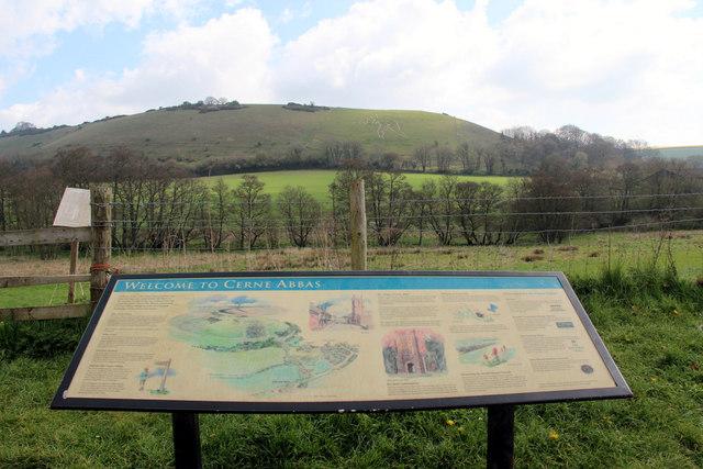 Information Board, Cerne Abbas, Dorset