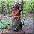 TQ4793 : Hainault Forest Tree Sculpture (3) by Roger Jones