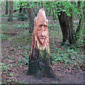 TQ4793 : Hainault Forest Tree Sculpture (4) by Roger Jones