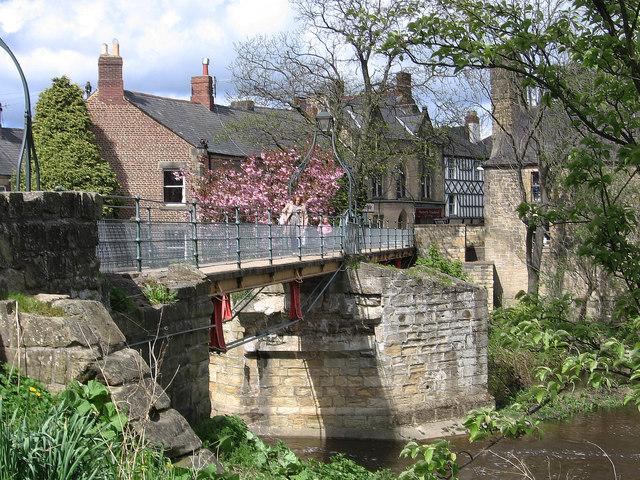 Morpeth - Chantry Footbridge - from southeast