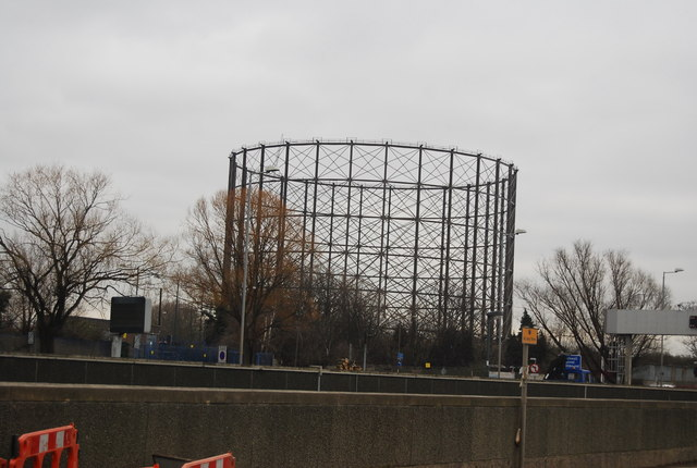 Gas holder, Greenwich peninsula