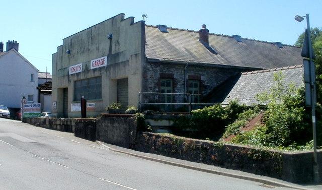 Mosley's Garage Ffairfach viewed from the north