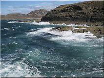 NM4167 : Rough sea at Ardnamurchan Point by Bob Jones