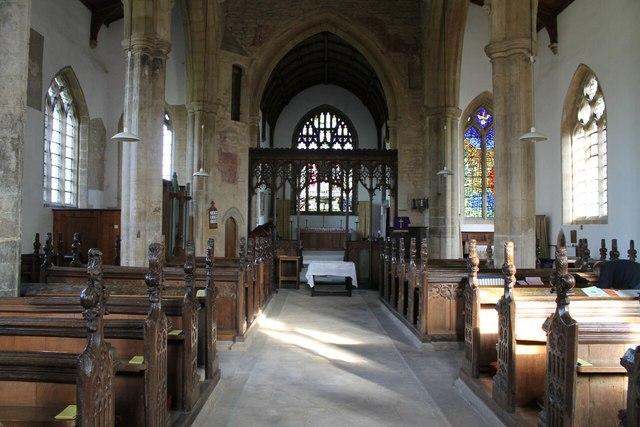 Interior, St Denis' church, Silk Willoughby