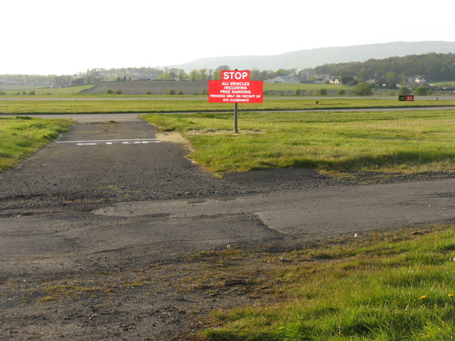 The end of Runway 23 at Glasgow