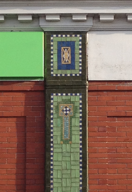 Co-operative store, Buxton Road, mosaic detail