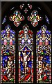 SE2682 : St Michael, Well - Stained glass window by John Salmon