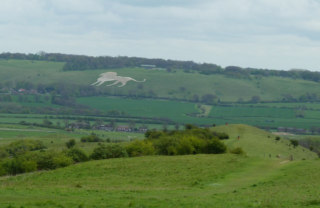 Whipsnade White Lion from Ivinghoe Beacon