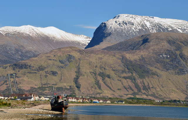 The Ben Nevis range from Corpach