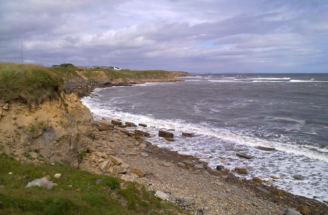 View North along the cliffs