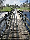 SE0754 : Footbridge over the River Wharfe by Pauline E