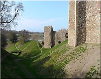 TM2863 : Walls of Framlingham Castle by nick macneill