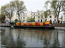 TQ2681 : The Puppet Theatre Barge, Little Venice by PAUL FARMER