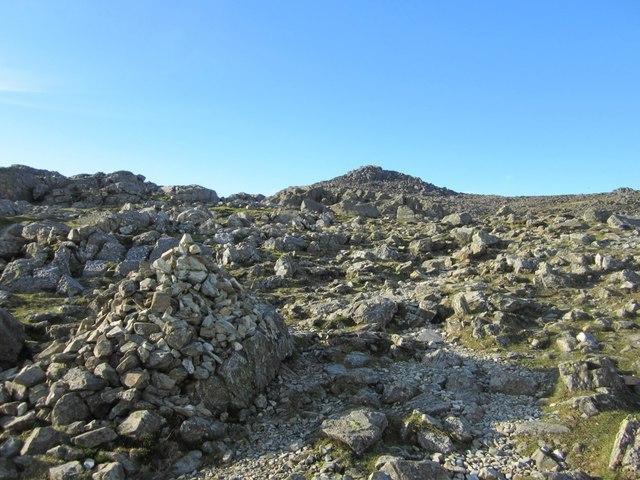 Path to Bowfell summit
