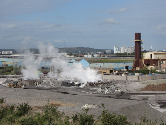 Industry in Cardiff Bay by Gareth James