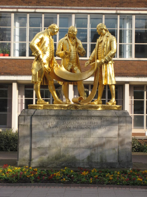 Statues of Matthew Boulton, James Watt and William Murdoch