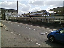 SD8122 : Bacup Road, Rawtenstall (with bus station) by Duncan Watts