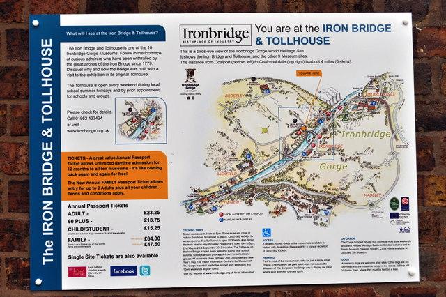 Ironbridge information sign