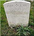SJ9494 : WWI Gravestone in St George's churchyard by Gerald England
