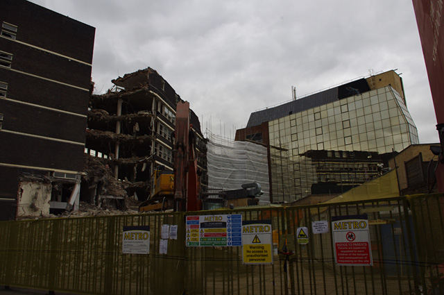 Demolition site, Gray Street