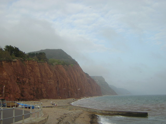 Salcombe Hill cliffs from Sidmouth