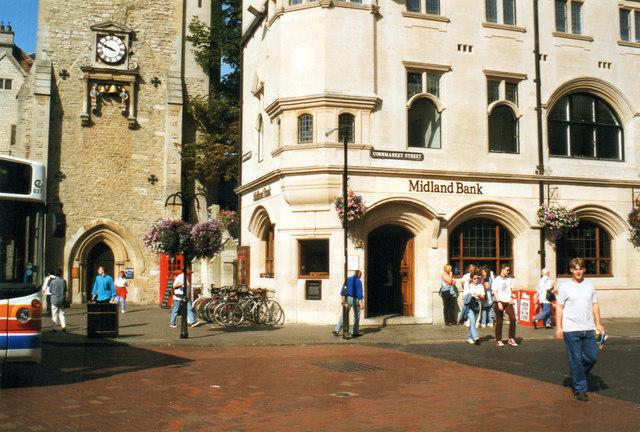 Midland Bank Oxford 1998  Now HSBC © Roy Hughes cc-by-sa/2 0