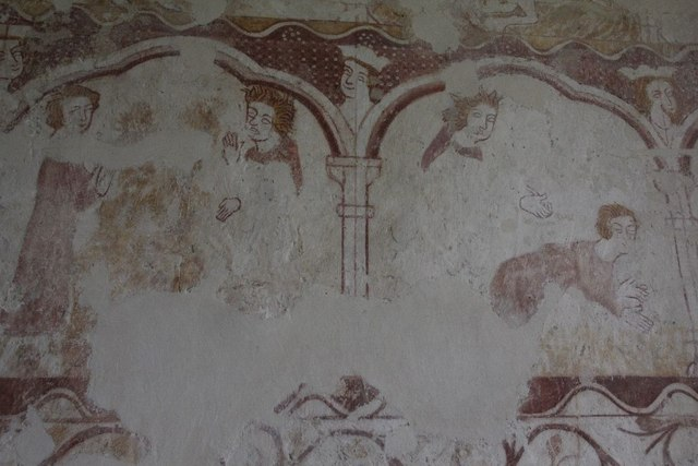 Detail of the wall painting
