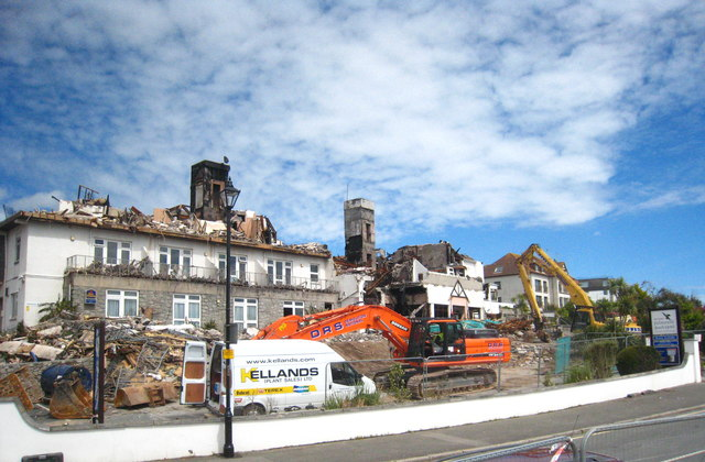 Demolition Works In Progress At The Falmouth Beach Hotel