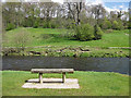 SE0755 : A seat by the River Wharfe by Pauline E