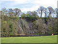 SE0754 : River cliff beside the Wharfe by Pauline E
