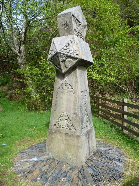 Sandstone obelisk at Ballachulish