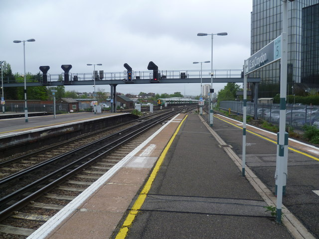 Looking north from East Croydon station