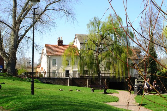 Loddon Mill through weeping willow