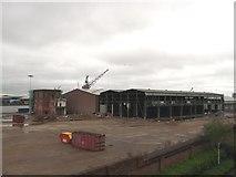 TQ7769 : Demolition at Chatham Docks by David Anstiss