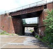 SS7788 : Two railway bridges, Taibach, Port Talbot by Jaggery