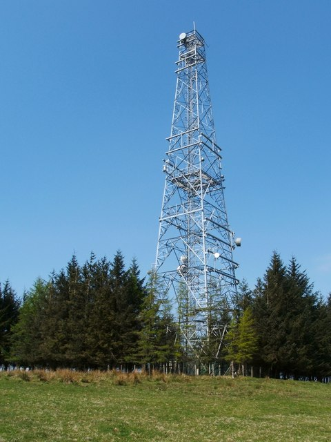 Transmitter mast at Sergeant Law