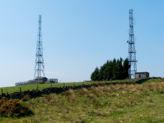 Transmitter masts at Sergeant Law