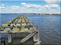 NT2677 : Old Pier in Western Harbour by Anne Burgess