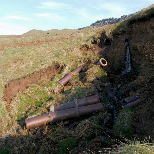 Fallen water pipes