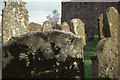 NX4440 : Gravestones at Whithorn Priory by Christopher Hilton
