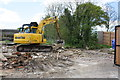 SU3985 : Benchmark just destroyed at 'The Downs', Manor Road by Roger Templeman