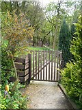 SE0421 : Gate on Sowerby Bridge Footpath 134 at Rough Hey, Norland by Humphrey Bolton
