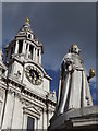 TQ3181 : Queen Anne Statue, St Paul's Cathedral by Colin Smith