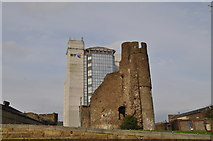 SS6593 : Swansea castle - old meets new. by John Davies