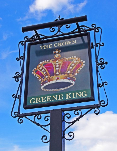 The Crown (3) - sign, Thame Road, Stadhampton